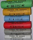 Grece Greece 1 ,2, 5, 10, 20, 50, cent 1, 2 euro rouleaux roll 2002 to 2015