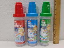 LARGE HUGE LOT OF 25 IDEAL SNO-MARKER FUN FOR KIDS IN THE SNOW-KIT-BOTTLES