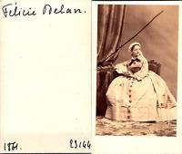 Actrice Théâtre, la comédienne et danseuse Félicie Delan Vintage CDV albumen car
