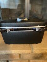Vintage Royal Traveller Train Case Cosmetic Hard Shell Samsonite DK Gray 1 Key