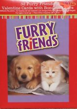 32 Furry Friends (Dogs & Cats) Valentine Cards -New in Box