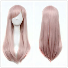 Princess Hot Light Pink Wig Natural Long Straight Women Party Wigs