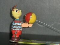 1950's Japan TPS Bear Playing Ball Tin Wind Up Toy In Very Good Condition...