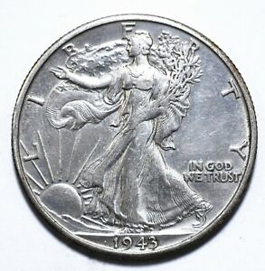 1943, USA, 1/2 Dollar, Walking Liberty, Silver, EF, KM# 142, Lot [826]