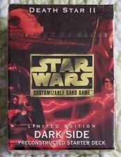 SWCCG STAR WARS COLLECTIBLE CARD GAME DEATH STAR II STARTER DECK DARK SIDE NEW