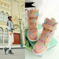 Womens High Top Boots Athletic Sneakers Wedge Ankle Strap Sport Shoes Casual New