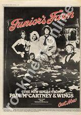 Wings Paul McCartney Junior's Farm Apple R 5999 MM4 '45 Advert 1974 #2 CD