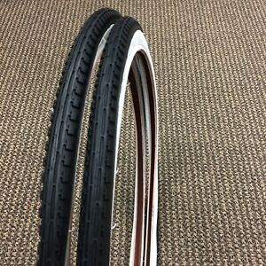 TWO  20x1 3//4 S-7 Classic WHITE WALL Bicycle Tires Schwinn bike TIRES
