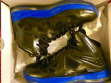 Nike Lebron X Size 13 (Nike + Elite) Black and Blue NikeID