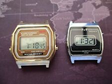 JOB LOT PAIR LCD WATCHES, UNTESTED /NO STRAPS,,,,,U FIX