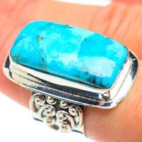 Huge Chrysocolla 925 Sterling Silver Ring Size 7.25 Ana Co Jewelry R52544F