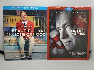A Beautiful Day in Neighborhood+Bridge Of Spies Blu-ray+DVD+Slip Cover TOM HANKS