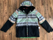 57 686 Mens SMARTY 3-in-1 Form Ski Snowboard Jacket Stripe Colorblock SZ Large