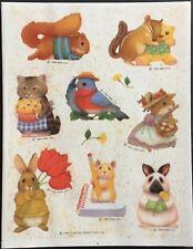 Vintage Stickers - Hallmark - Adorable Animals - Dated 1989