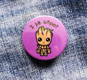 Baby Groot Pin Badge - 38mm - Guardians of the Galaxy I Am Groot Marvel Disney