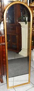 WANDSPIEGEL mit Rundbogen 90er Jahre goldfarbig 129 cm x 39 cm