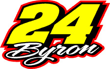 24 William Byron 2018 Nascar decal sticker