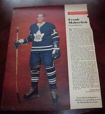 Frank Mahovlich # 1 issue Weekend Magazine Photos 1962 -1963 Toronto Star
