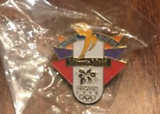 1998 Nagano Minute Maid Figure Skating Olympics Logo Lapel Hat Pin Clutch Back
