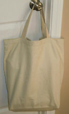 Large Heavy Duty Washable Canvas Tote Bag, 17-3/4 X 16-3/4 X 6 in, School, Home