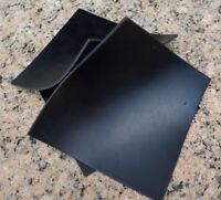 "Set Of 3 Neoprene Rubber Gasket Plumbing Sheets Black 6""x6""x1/8"" Level Bumpers"