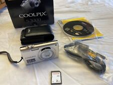 Nikon Coolpix S3000 12Mp Digital Camera - Silver W/ Sd, Cable, Manual
