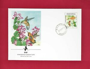 BAHAMAS - RUFOUS HUMMINGBIRD - INTERNATIONAL AUDUBON FUND - FIRST DAY COVER 1989