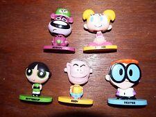 Cartoon Network 90s figure toy playset Eddy Power puff Dexters lab bobble heads