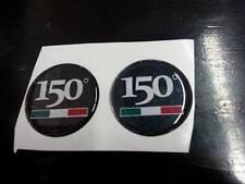 2 ADESIVI RESINATI LOGO ANNIVERSARIO Fiat 150°  5 CM.