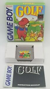 Golf (Nintendo Game Boy, 1990) OGB COMPLETE IN BOX WITH BOOKLET!