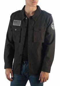 Punisher Men's Vigilante Black Jacket ~ Marvel - 2 XL