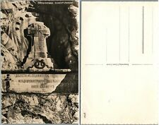 VINTAGE RPPC REAL PHOTO POSTCARD RUSSIAN GENERAL SUVOROV MEMORIAL in SWITZERLAND