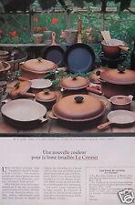 PUBLICITÉ 1979 LE CREUSET NOUVELLE COULEUR POUR LA FONTE ÉMAILLÉE - ADVERTISING