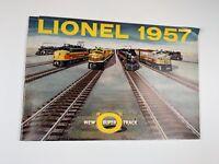 Lionel Toy Train 1957 Catalog New Super O Track