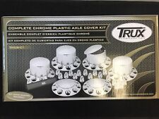 TRUX TX-THUB-C1 COMPLETE CHROME PLASTIC AXLE COVER KIT FREEE SHIPPING