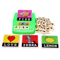 English Spelling Alphabet Letter Game Early Learning Educational Toy Kids Gift