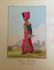 HORSE ARTILLERY ( ARTILLERÍA LIGERA) . Litografia con color original,1823.