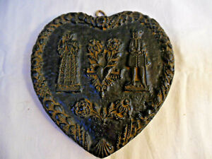 Old Wax Heart Wall Hanging Made In West Germany