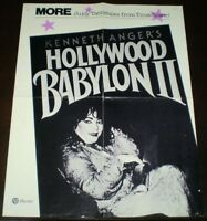 KENNETH ANGER'S HOLLYWOOD BABYLON II, ORIGINAL POSTER ADVERT, PLUME, 22 x 17