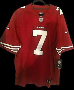 COLIN KAEPERNICK 49ers NIKE JERSEY Men's Size XL Red & White Sewn 7 NEW W/ TAGS