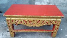 60 year old Altar Table Buddha temple Gold Gilt wood carved antique vintage