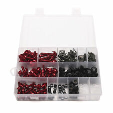 223PCS Motorcycle Bike Windscreen Fairing Bolts Kit Fastener Clips Screws Pins