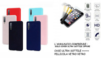 Custodia per WIKO Y80 cover GEL SLIM soft case tpu +PELLICOLA vetro TEMPERATO 9h
