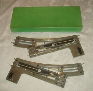 HORNBY Series O Gauge 3-rail  EPR2 & EPL2 Points on Solid Bases - Boxed GC 1930s
