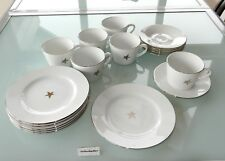 Ikea Sterne Silber Weihnachten Kaffeeservice 6 Pers 18 Tlg Tasse Teller Untere