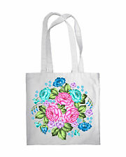 Shopping Bag Eco Vintage Roses Print Shopper Tote Beach Shoulder Handbag