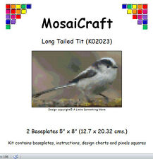 MosaiCraft Pixel Craft Mosaic Art Kit 'Long Tailed Tit' Pixelhobby