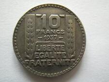 COPIE 10F 1937 de la RARE monnaie TURIN argent 10 franc REPLIQUE