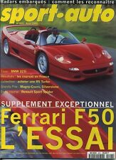 SPORT AUTO n°403 Août 1995*FERRARI F50 BMW 323i BMW 318is MARCOS LM500 VIPER RT