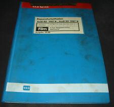 Microfich Audi 80 90 Typ 89 B3 Vergaser Motor JV NE PP RN RU SE SF 09/1988!